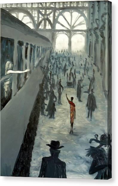 She Let Me Go Canvas Print by Zsuzsa Sedah Mathe