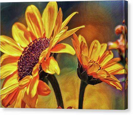 Canvas Print featuring the digital art She Loves Me Not by Doctor Mehta