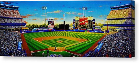 New York Mets Canvas Print - Shea Stadium by T Kolendera