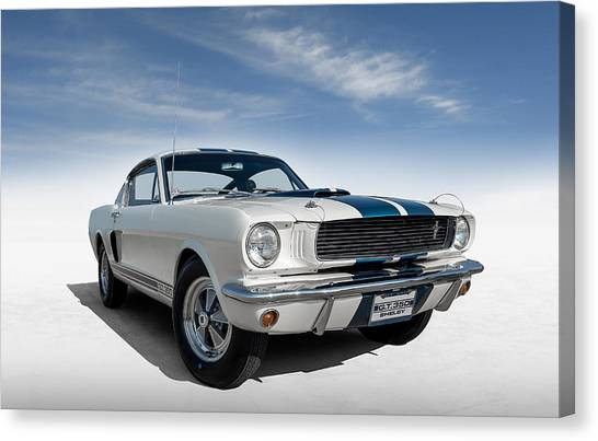 Vintage Mustang Car Canvas Print - Shelby Mustang Gt350 by Douglas Pittman