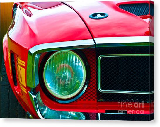 Red Shelby Mustang Canvas Print