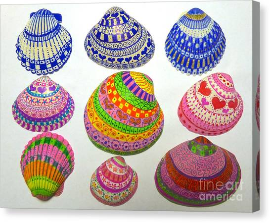 Shell Art Canvas Print