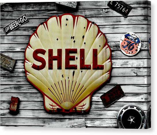 Shell Gas Canvas Print