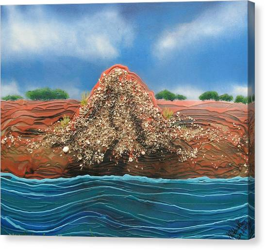 Canvas Print - Shell Mound by Joan Stratton