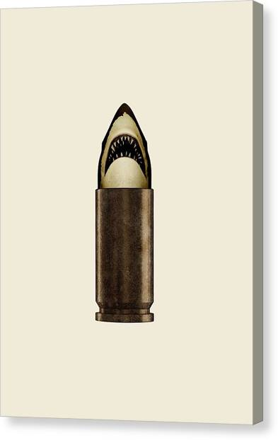 Teeth Canvas Print - Shell Shark by Nicholas Ely