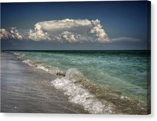 Shells, Surf And Summer Sky Canvas Print