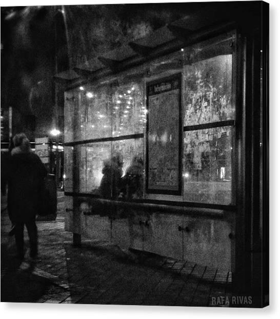 Holidays Canvas Print - Shelter  #street #citylife #city by Rafa Rivas