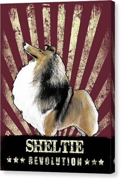Sheltie Revolution Canvas Print