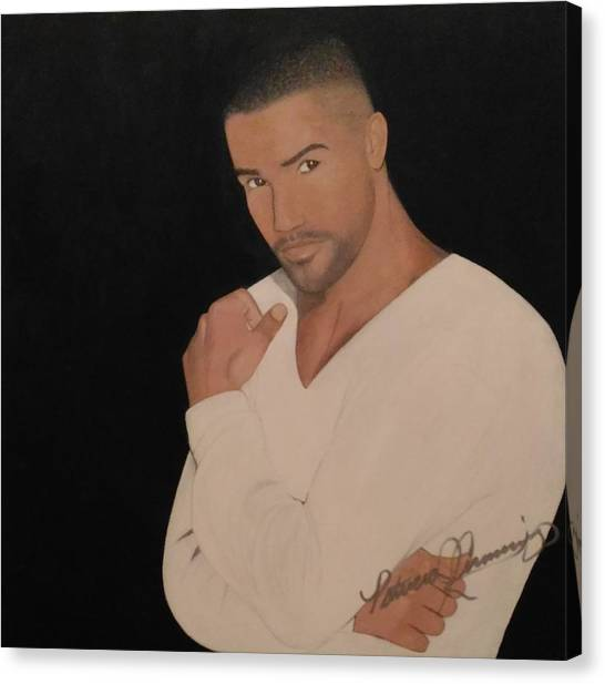 Shemar Moore Canvas Print