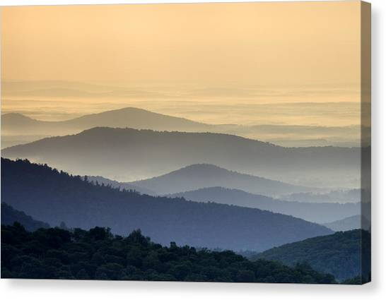 Shenandoah National Park Mountain Scene Canvas Print