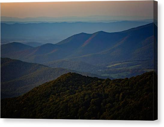 Shenandoah Valley At Sunset Canvas Print