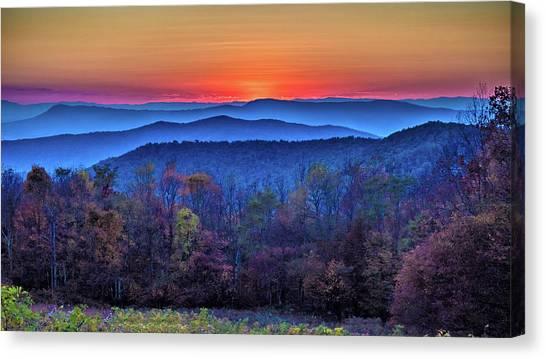 Shenandoah Valley Sunset Canvas Print