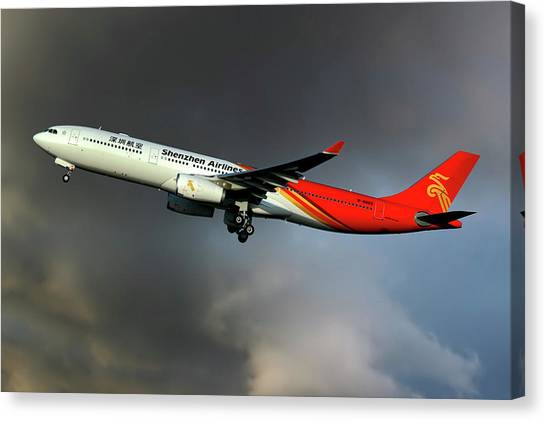 Airlines Canvas Print - Shenzhen Airlines by Smart Aviation