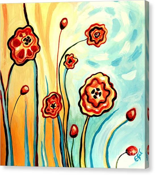 Sherbert And Powder Blue Skies Canvas Print