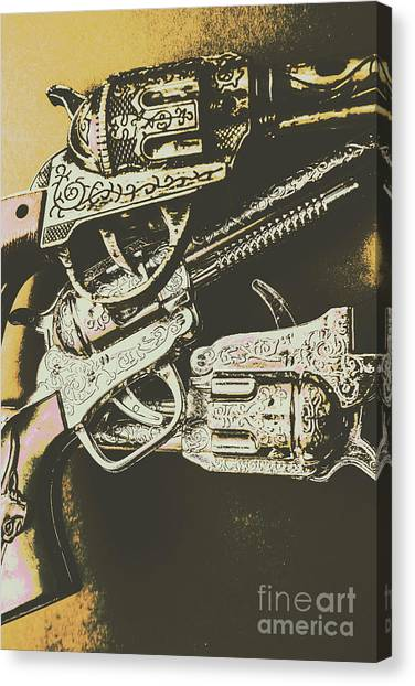 Pistols Canvas Print - Sheriff Guns by Jorgo Photography - Wall Art Gallery
