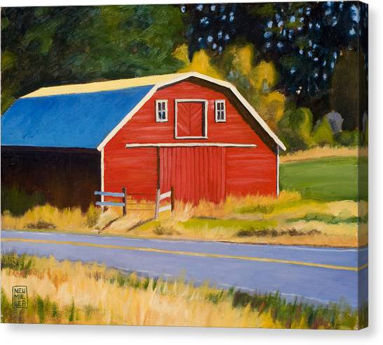 Sherman Barn Canvas Print by Stacey Neumiller