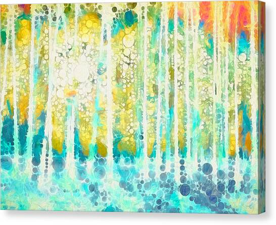 Canvas Print - Sherwood Pines Abstract Art by Amanda Lakey