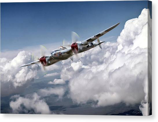 United States Army Air Corps Canvas Print - She's A Honey by Peter Chilelli