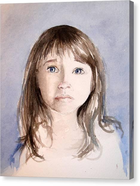 She's Sad Canvas Print