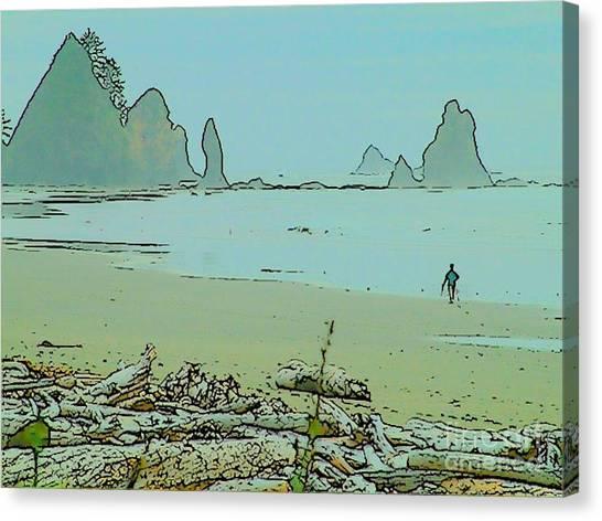 Shi Shi Beach And Patrick Canvas Print