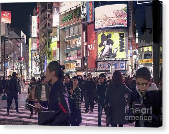 Shibuya Crossing, Tokyo Japan Poster 3 Canvas Print