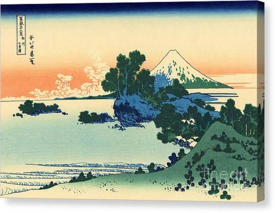 Mount Fuji Canvas Print - Shichiri Beach In Sagami Province by Hokusai