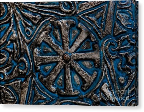 Timeworn Canvas Print - Shield Of Time by Venetta Archer