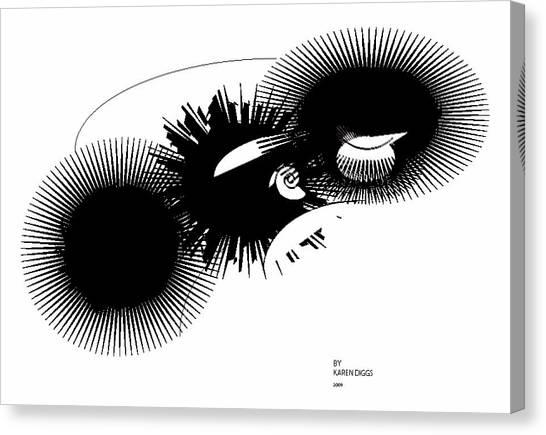 Shift Canvas Print by Karen Diggs