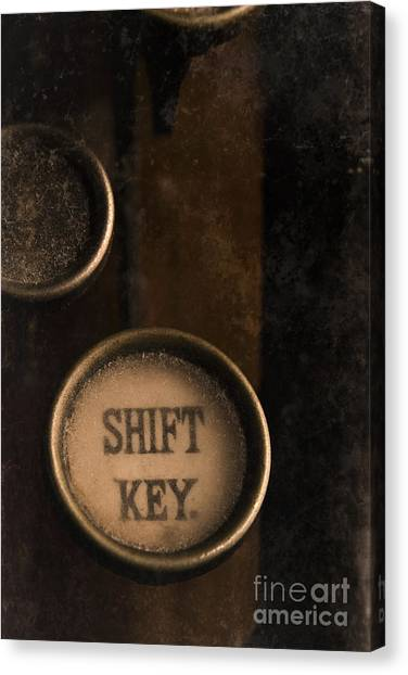 Shift Key Canvas Print