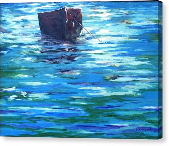 Shifting Boat Canvas Print by Beth Maddox