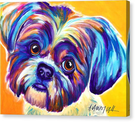 Shih Tzus Canvas Print - Shih Tzu - Dreamy by Alicia VanNoy Call