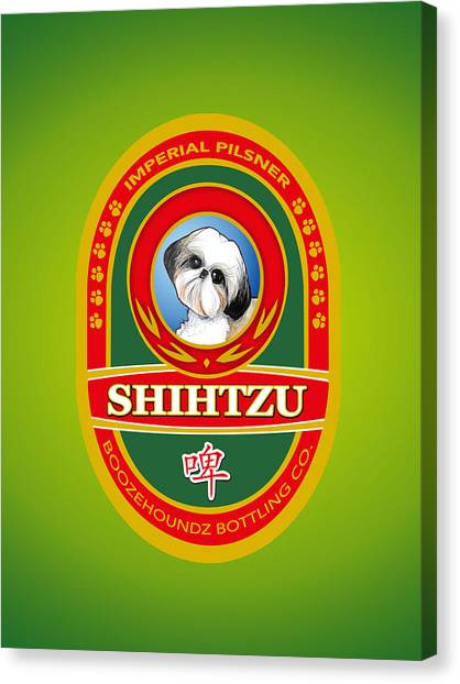 Shih Tzus Canvas Print - Shih Tzu Imperial Pilsner by John LaFree