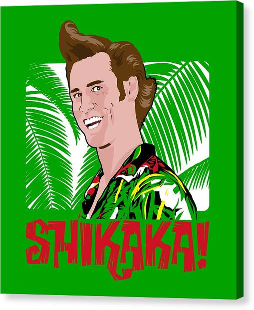 Jim Carrey Canvas Print - Shikaka by Mos Graphix