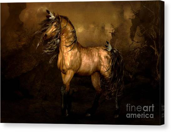 Native Americans Canvas Print - Shikoba Choctaw Horse by Shanina Conway