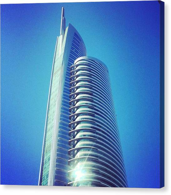 Ucla Canvas Print - Shimmering Skyward. #dubai #uae by Matthew Gilbert