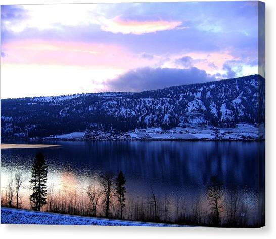 Oyama Canvas Print - Shimmering Wood Lake by Will Borden