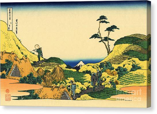 Mount Fuji Canvas Print - Shimomeguro by Hokusai