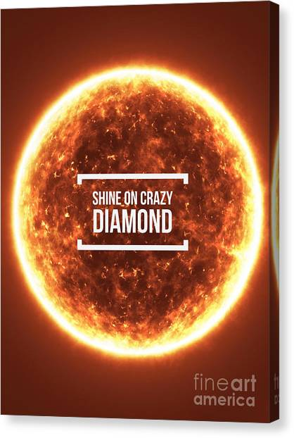 Fire Ball Canvas Print - Shine On Crazy Diamond by Edward Fielding