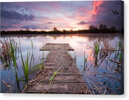 Shinewater Lake Sunrise Canvas Print