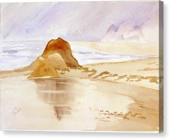 Shining Sands Canvas Print by Leo Chiantelli