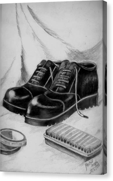 Shining Shoes Canvas Print by Archit Singh