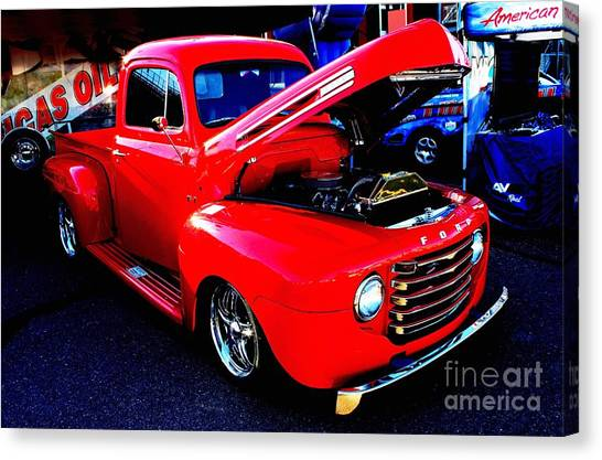 Shiny Red Ford Truck Canvas Print