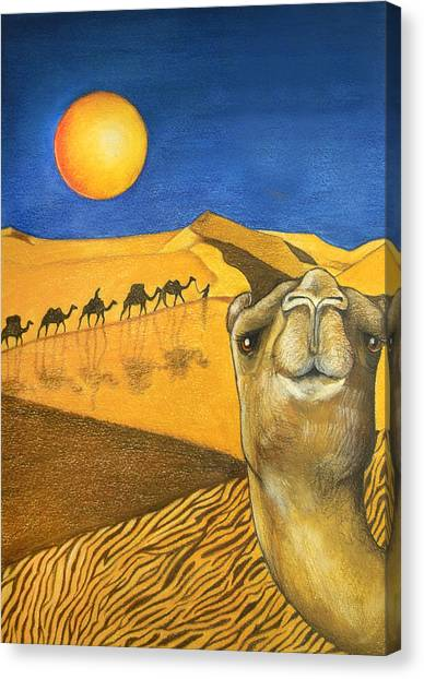 Sahara Desert Canvas Print - Ship Of The Desert by Robert Lacy
