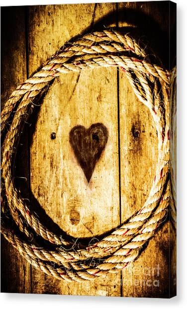 Rope Canvas Print - Ship Shape Heart by Jorgo Photography - Wall Art Gallery