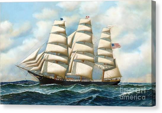 Ship Young America At Sea Canvas Print