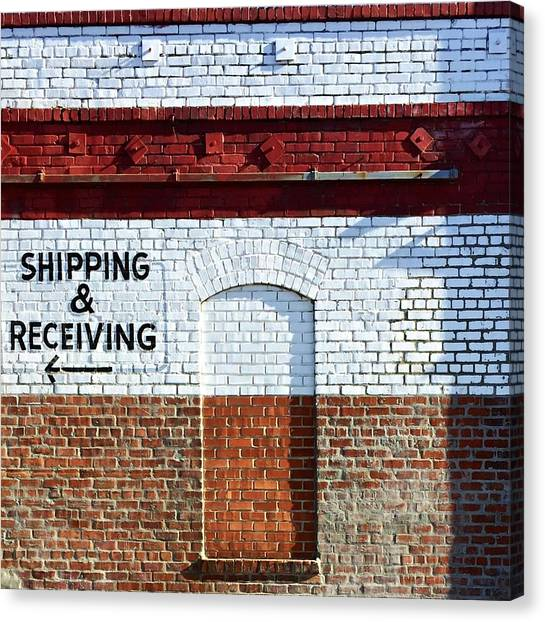 Canvas Print - Shipping And Receiving  by Julie Gebhardt