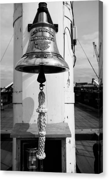 Ships Bell Uss Constitution Canvas Print