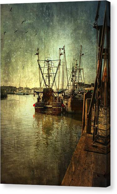 Ships Docked Canvas Print