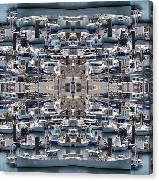 Ships Of Ciutadella I Canvas Print
