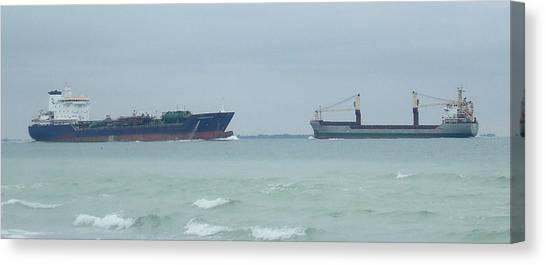 Ships Meet Canvas Print